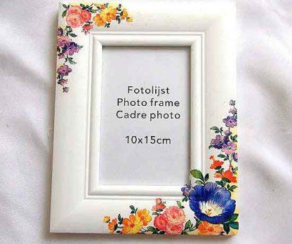 Rama fotografie cu model floral, rama de lemn cu flori 32956