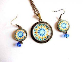 Set mandala gen roata, set bijuterii model mandala 33001