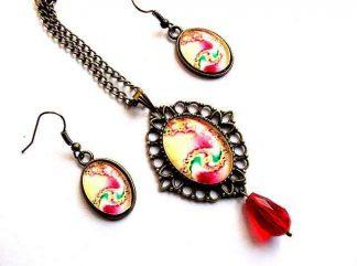 Bijuterii cu elemente decorative abstracte, set bijuterii femei 33169