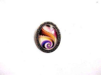 Brosa cu design scoica multicolora, bijuterie cadou femei 33148