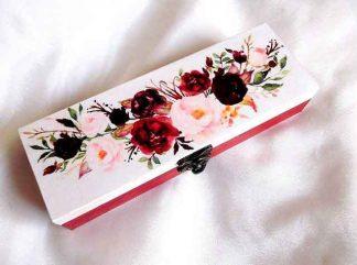 Cutie bijuterii cu buchet de flori, cutie de lemn cadou 33175