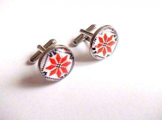 Butoni motiv traditional cruce stilizata, butoni camasa barbati 33411