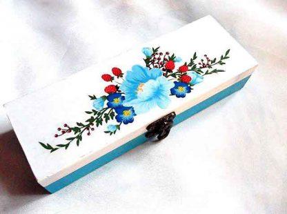 Cadou cutie dreptunghiulara, cutie cu model floral 33240
