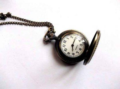 Ceas cu Quarz din metal, ceas pandantiv deschis model 33994