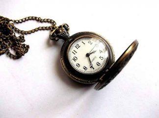 Ceas pandantiv cifre arabe, ceas deschis femei non handmade 33991