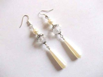 Cercei cristale si perle, cercei cadou femei 34674