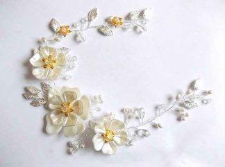 Coronita cu frunze si flori artificiale, coronita mireasa 34436