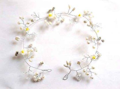 Coronita mireasa cu perle artificiale si cristale, cronita mireasa 34558