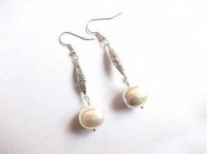 Pereche cercei perle naturale, cercei cadou femei 34447