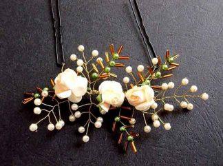 Accesoriu perle artificiale, flori artificiale , margele sticla, accesoriu mireasa 34560