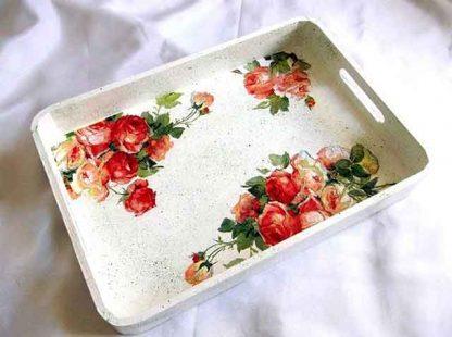 Tava trandafiri rosii si trandafiri roz, tava model floral 34594