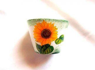 Ghiveci cu floarea soarelui, ghiveci ceramica 35288