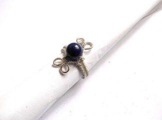 Inel culoare mov, inel piatra lapis lazuli 36022