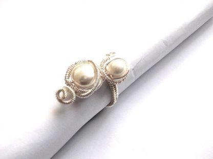 Perle naturale de Mallorca, inel lucrat manual cu perle de Mallorca 36105 2