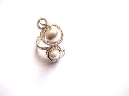 Perle naturale de Mallorca, inel lucrat manual cu perle de Mallorca 36105