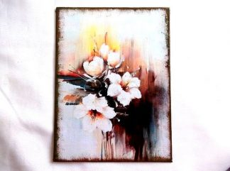 Flori albe de vara, tablou pe panza 36318