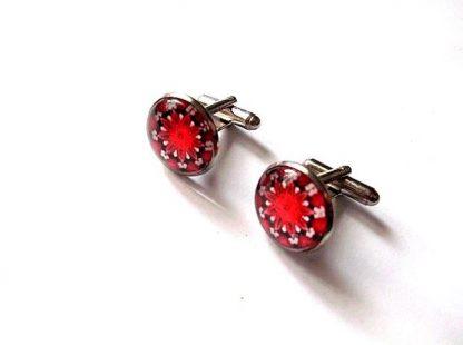 Butoni culoare rosu si negru, butoni camasa barbati 36878