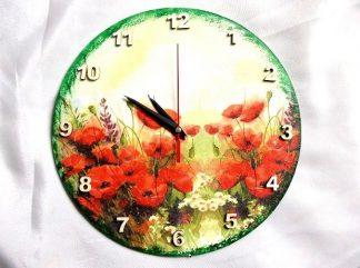 Ceas cu maci rosii, produs util si decoratiune 36740