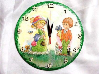 Ceas de perete cu baiat si fata, ceas de perete cifre arabe 36738