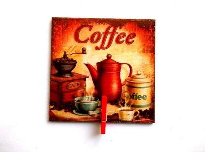 Magnet cafea, magnet frigider cu clema lemn 37039