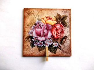 Magnet cu mesaje sau fotografii, magnet cu buchet flori 37040