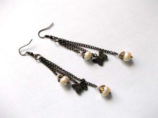 Cercei cu perle naturale, cercei cadou 37450