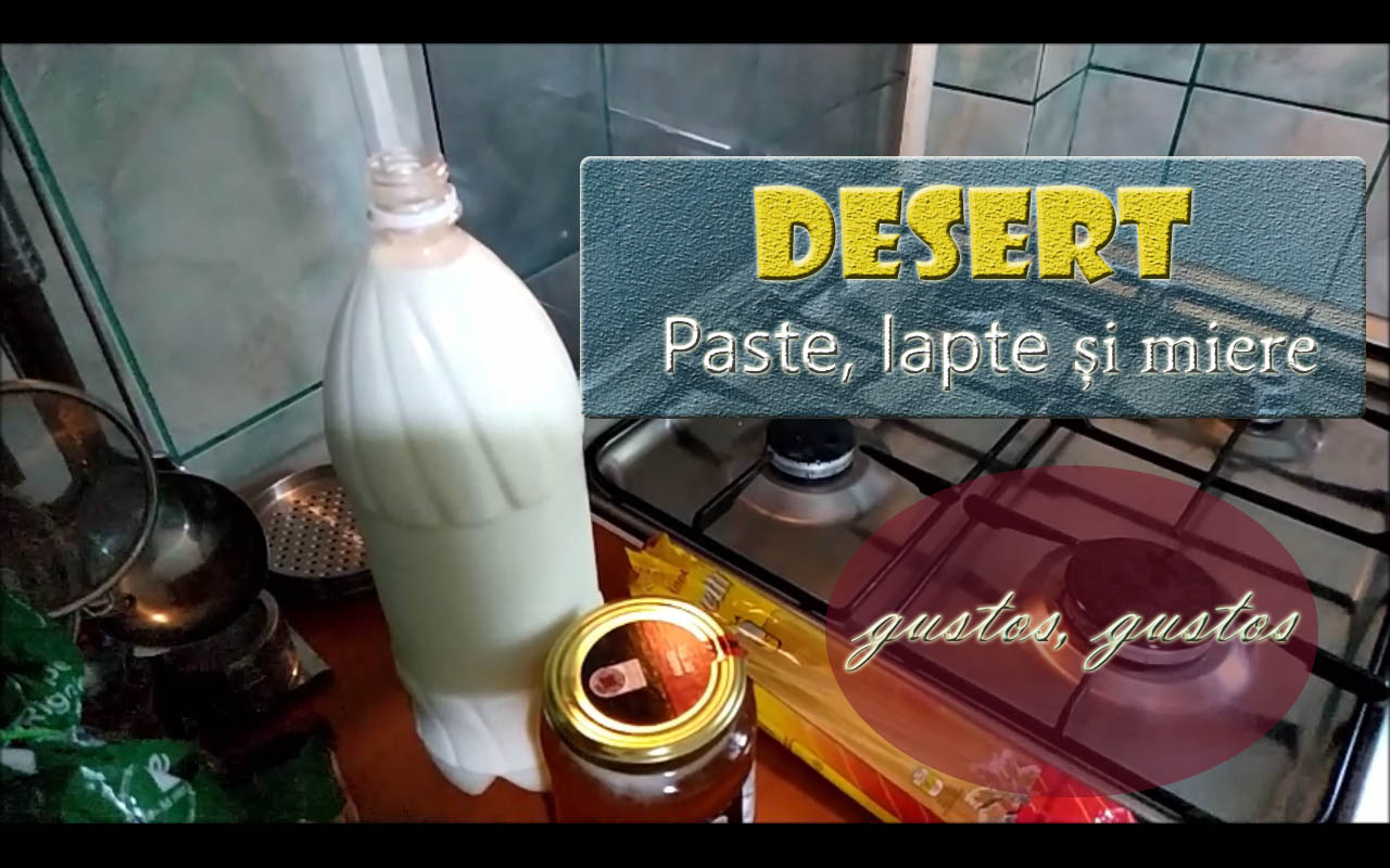 Reteta desert paste, lapte si miere