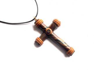 Pandantiv cruce, colier pandantiv cruce fimo 39013