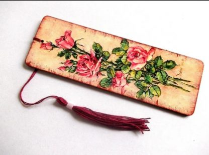 Trandafiri roz, semn de carte 39144