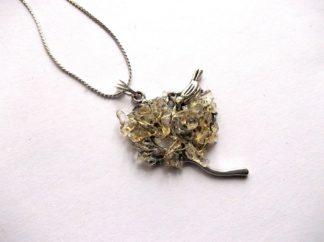 Arborele vietii cu citrin, bijuterie cadou femei 38974