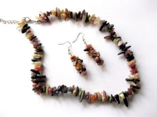 Bijuterii turmalina, set bijuterii femei pietre turmalina 39505