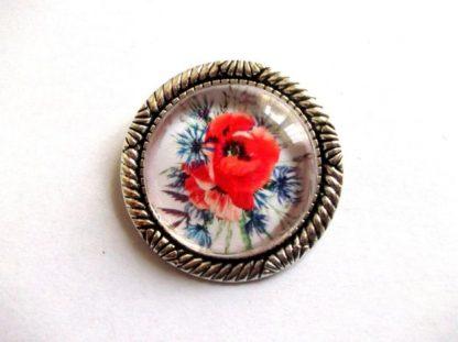 Brosa flori maci, bijuterie maci rosii 29258