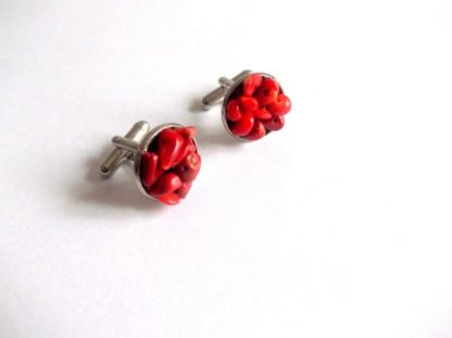 Butoni camasa corali rosii, butoni camasa barbati 39094