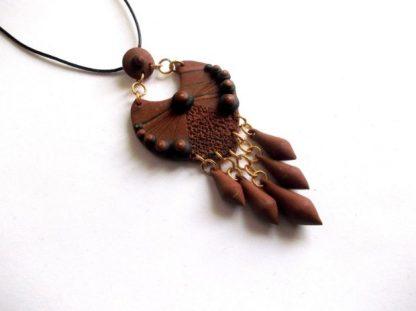 Colier elemente decorative fimo, bijuterie femei 39030