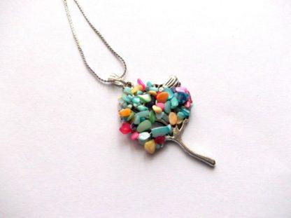 Pandantiv arborele vietii sidef, bijuterie multicolora 38961