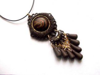 Pandantiv fimo maro, pandantiv cu model tribal 38972