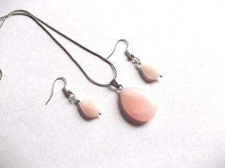 Set cuart roz, set bijuterii femei din pietre semipretioase 39077