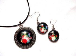 Set model floral, set bijuterii femei 39314