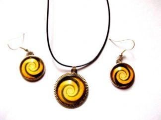 Set spirala galben si maro, set sticla 39336
