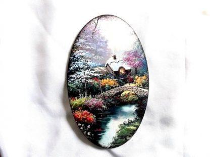 Tablou cu peisaj de primavara, tablou pe lemn 39500