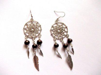 Cercei femei Dreamcatcher, cercei cu perle naturale 39700