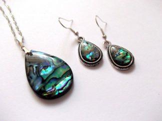 Set sidef paua, set bijuterii femei 39534