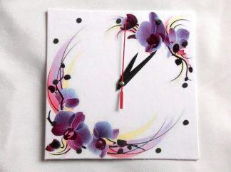 Ceas cu orhidee mov, ceas de perete 39757