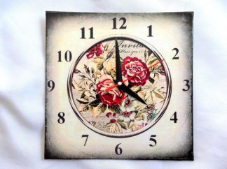 Ceas model floral gen carte postala, ceas perete 39758