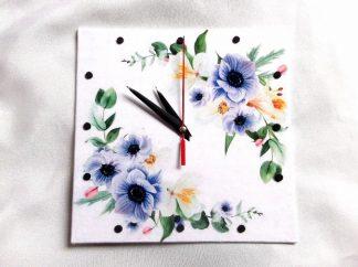 Model flori mov ceas, ceas de perete de forma patrata 39751