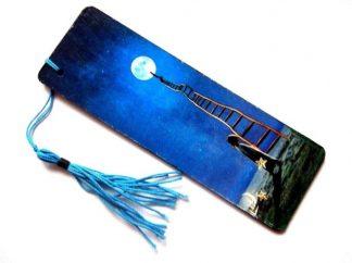 Semn cu copil si scara pana la luna, semn de carte 38761