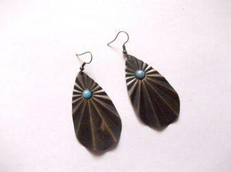 Cercei perle acrilice si bronz, cercei cadou 39862 poza 1