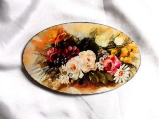 Tablou cu buchet de flori, tablou pe lemn cu natura moarta 39892