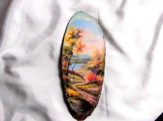 Tablou cu drum serpuit prin natura, tablou lemn 39886